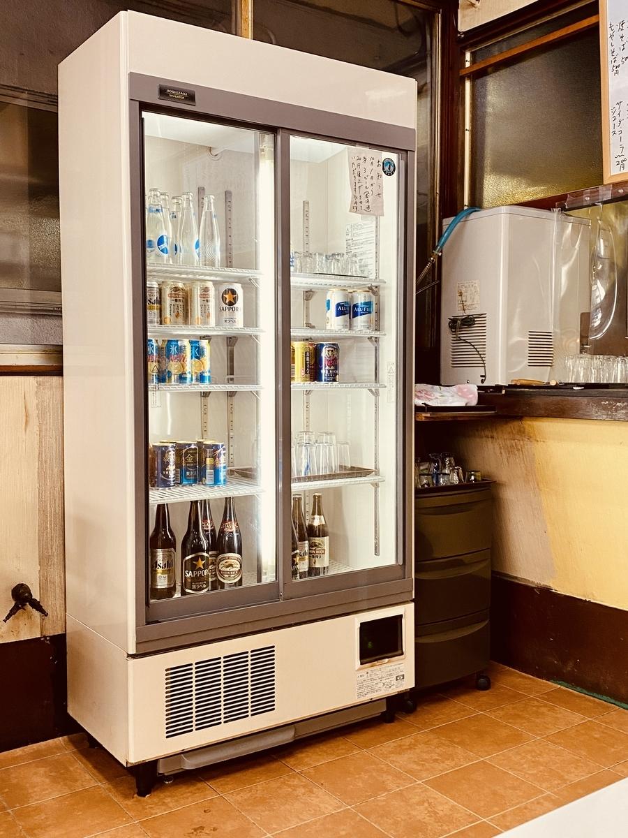 「ほかり食堂」のセルフ式飲料保冷庫