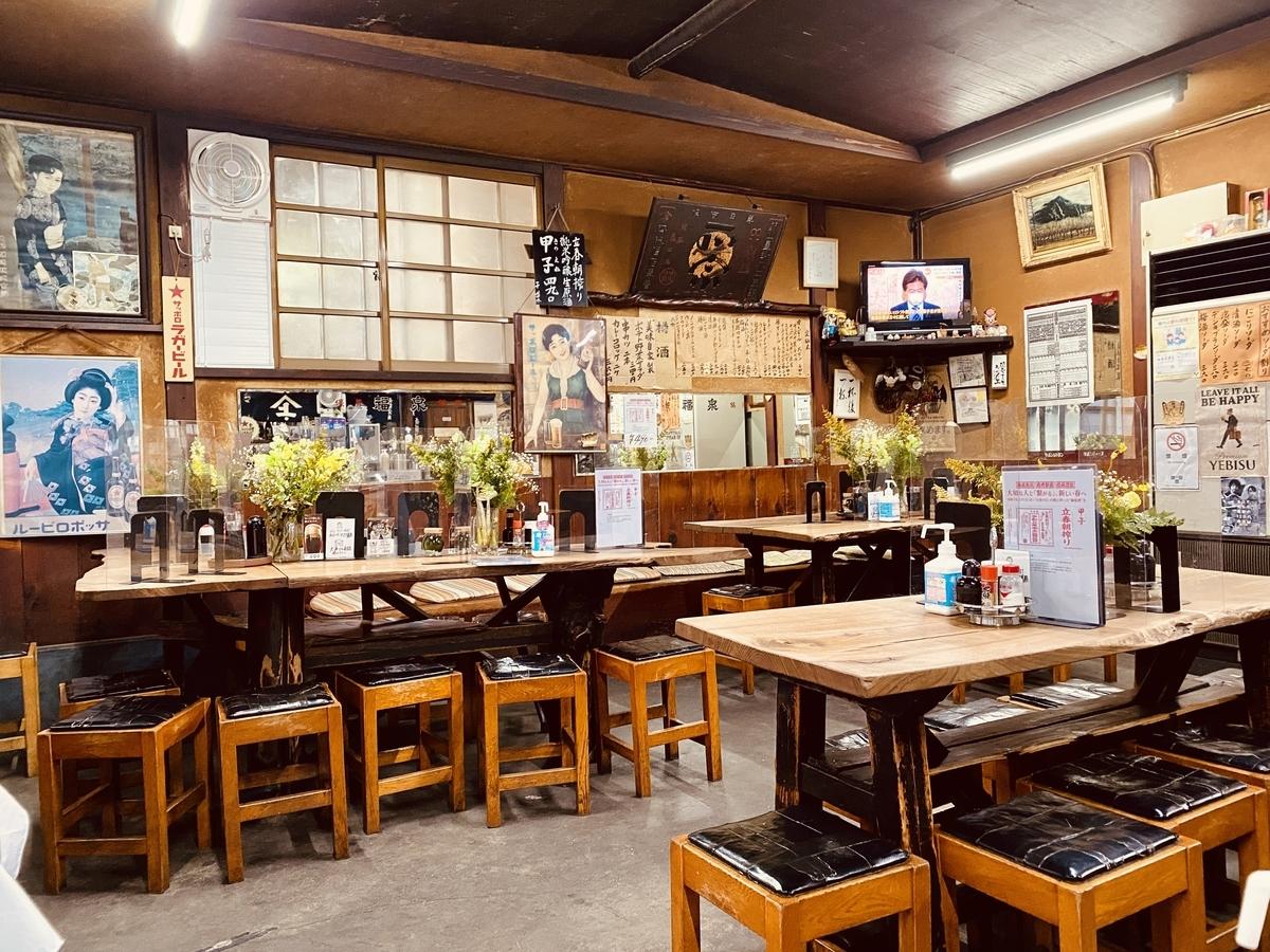 十条の名酒場「斎藤酒場」の店内