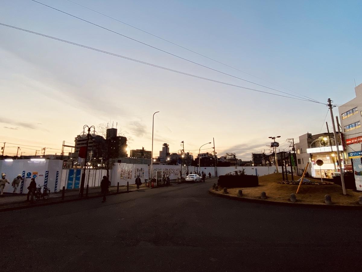 再開発が進む黄昏の十条駅西口