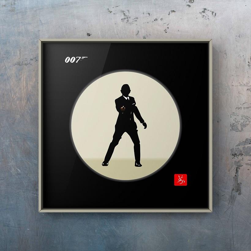 007 Gun Barrel Sequenceのエクセル画イラスト額装版