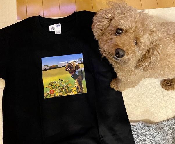 トイプードルのエクセル画Tシャツ