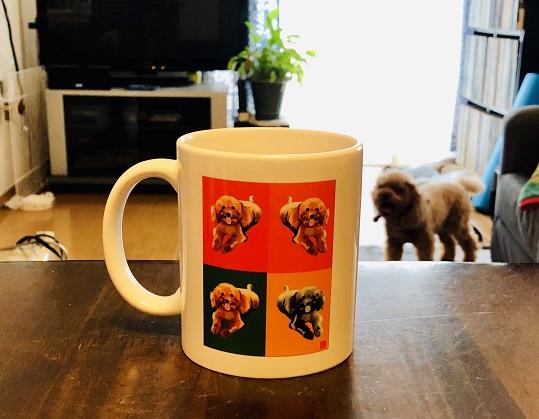 うちのワンちゃんのエクセル画マグカップ