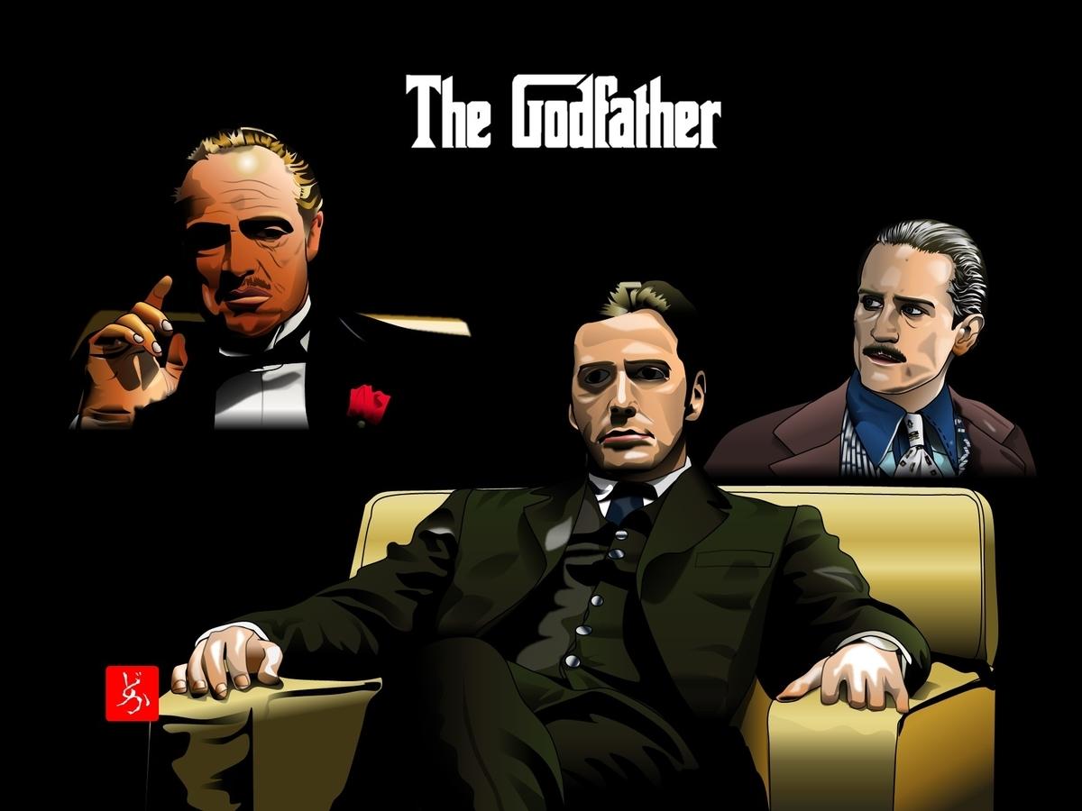 『ゴッドファーザー』の全員集合エクセル画