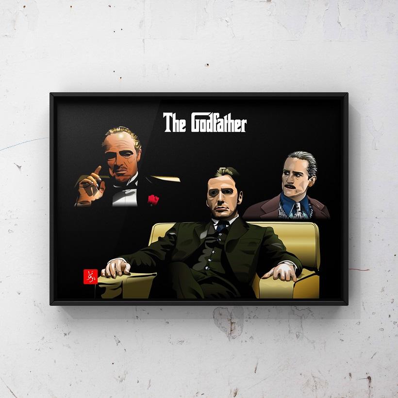 『ゴッドファーザー』の全員集合エクセル画額装版