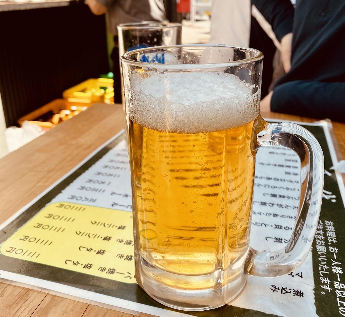 上中里の「いこい」で生ビール