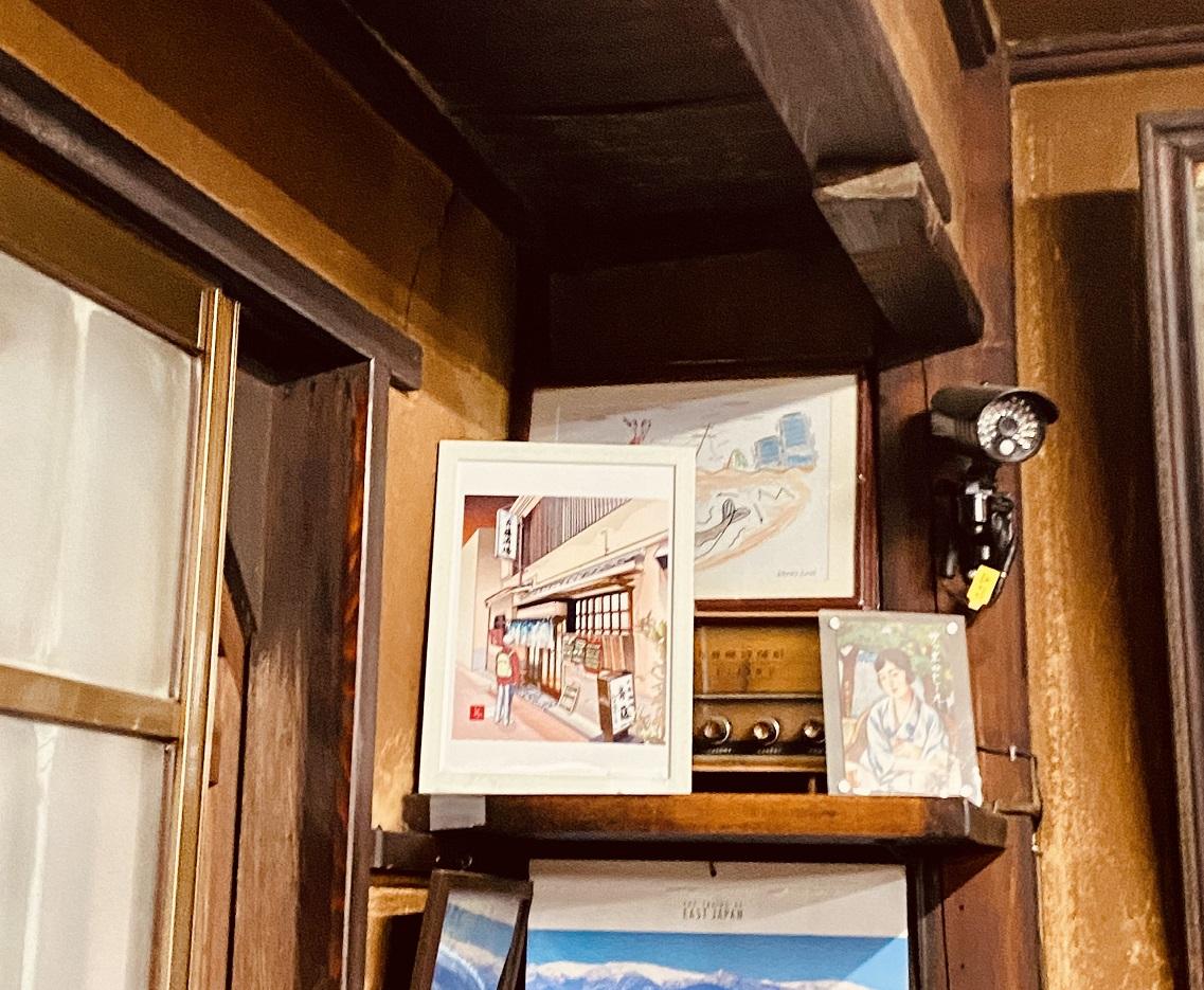 「斎藤酒場」のエクセル画を置いてもらったコーナー