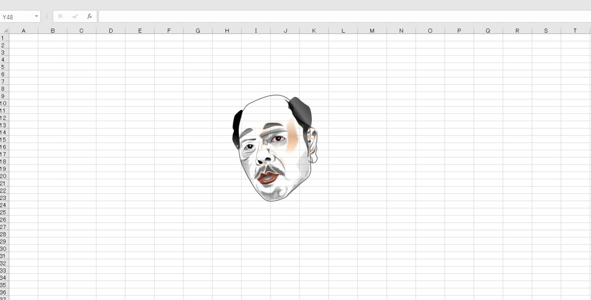 なぎら健壱のエクセル画の作画過程1日目