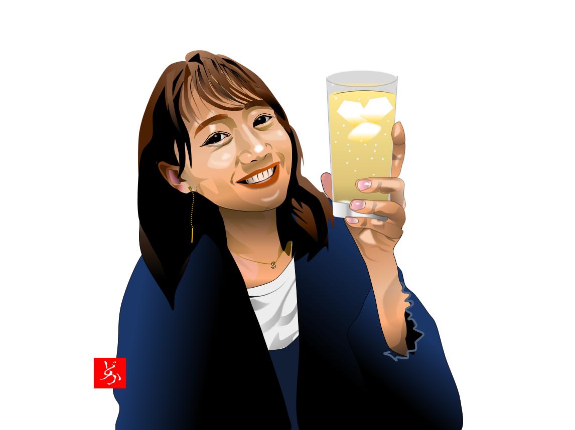 町中華姐さん、高田秋の単体エクセル画イラスト