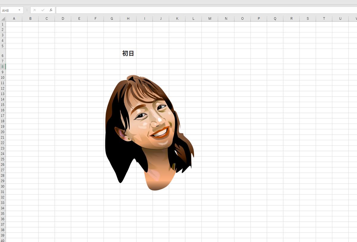 町中華姐さん、高田秋のエクセル画イラスト作画過程初日