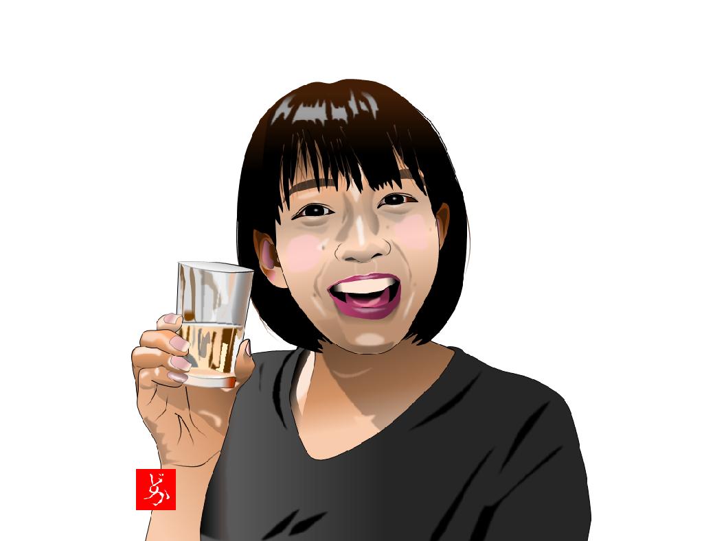 町中華の伝道師、坂ノ上茜の単体エクセル画イラスト