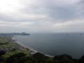 徳島県の大坂峠。グライダーのジャンプ台がある。
