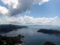 宇和島展望タワーから足摺岬方面を望む