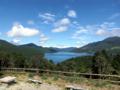 ちなみに芦ノ湖にも寄りました。奥行きが長いね。