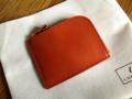 土屋鞄製造所 ナチューラヌメ革Lファスナー(オレンジ)