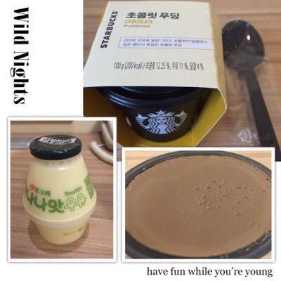 韓国スタバのチョコプリン