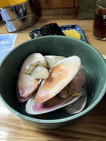 ヒラ貝の酒蒸し