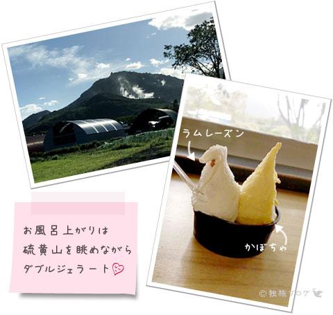 硫黄山とジェラート