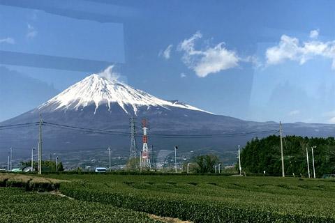 バスの中から見えた富士山