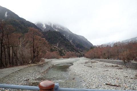 明神橋から梓川