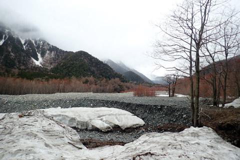 徳沢への道