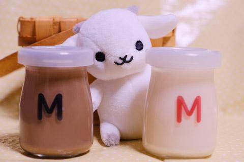 ミルク瓶のM