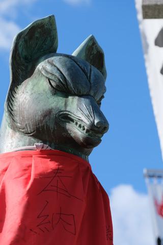 豊川稲荷の狛狐