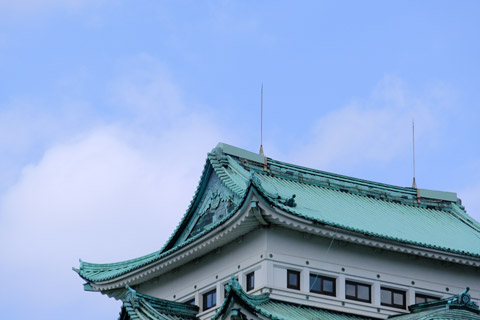 金鯱のいない名古屋城