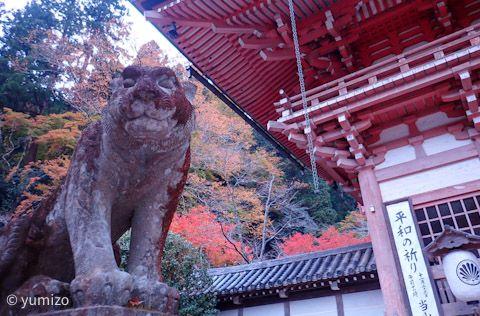 山門の狛犬(阿吽の虎)
