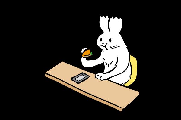 飲食するイラスト