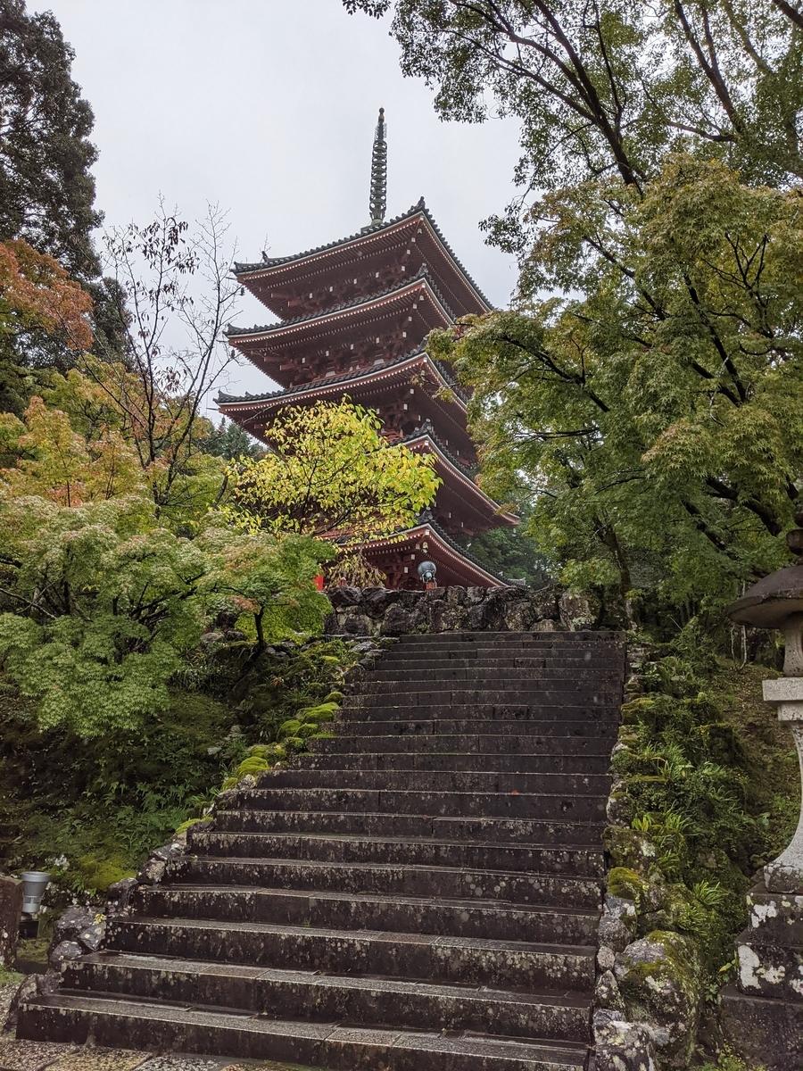 竹林寺五重塔写真