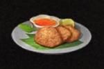 魚肉入り餅のフライ