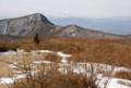 長七郎から荒山方面。遠景は浅間山