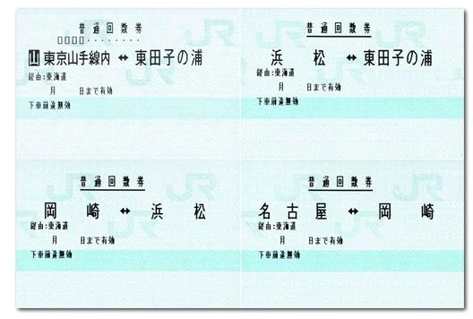 分割乗車券の例