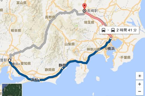 名古屋高崎の地図