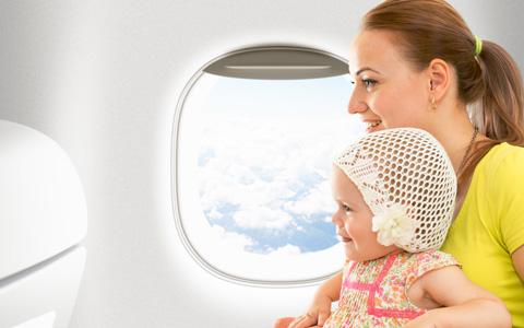 飛行機赤ちゃん