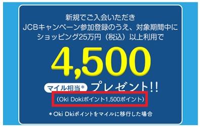 OkiDokiポイントボーナスポイント