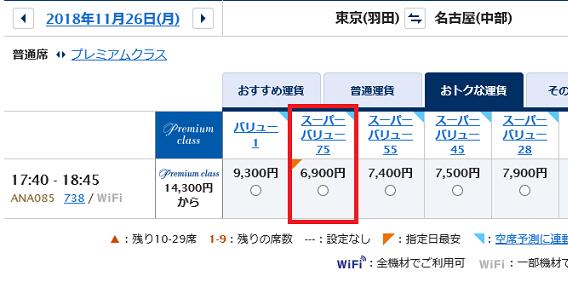 セントレア名古屋飛行機運賃