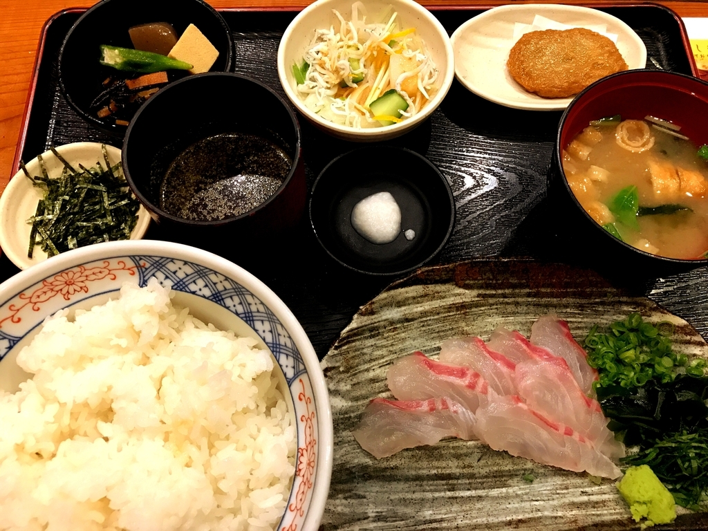 郷土料理五志喜本店の鯛めしセット