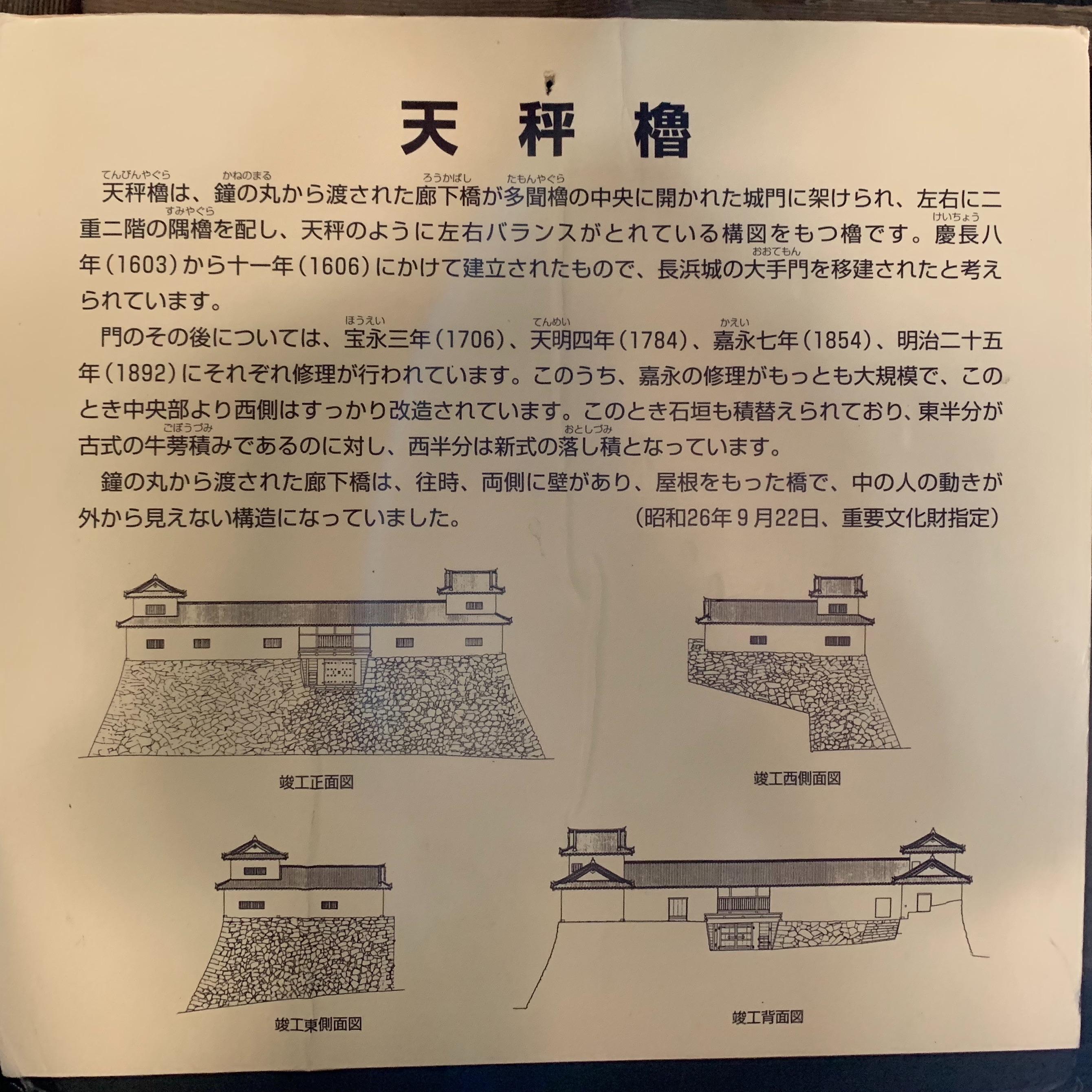 天秤櫓の説明
