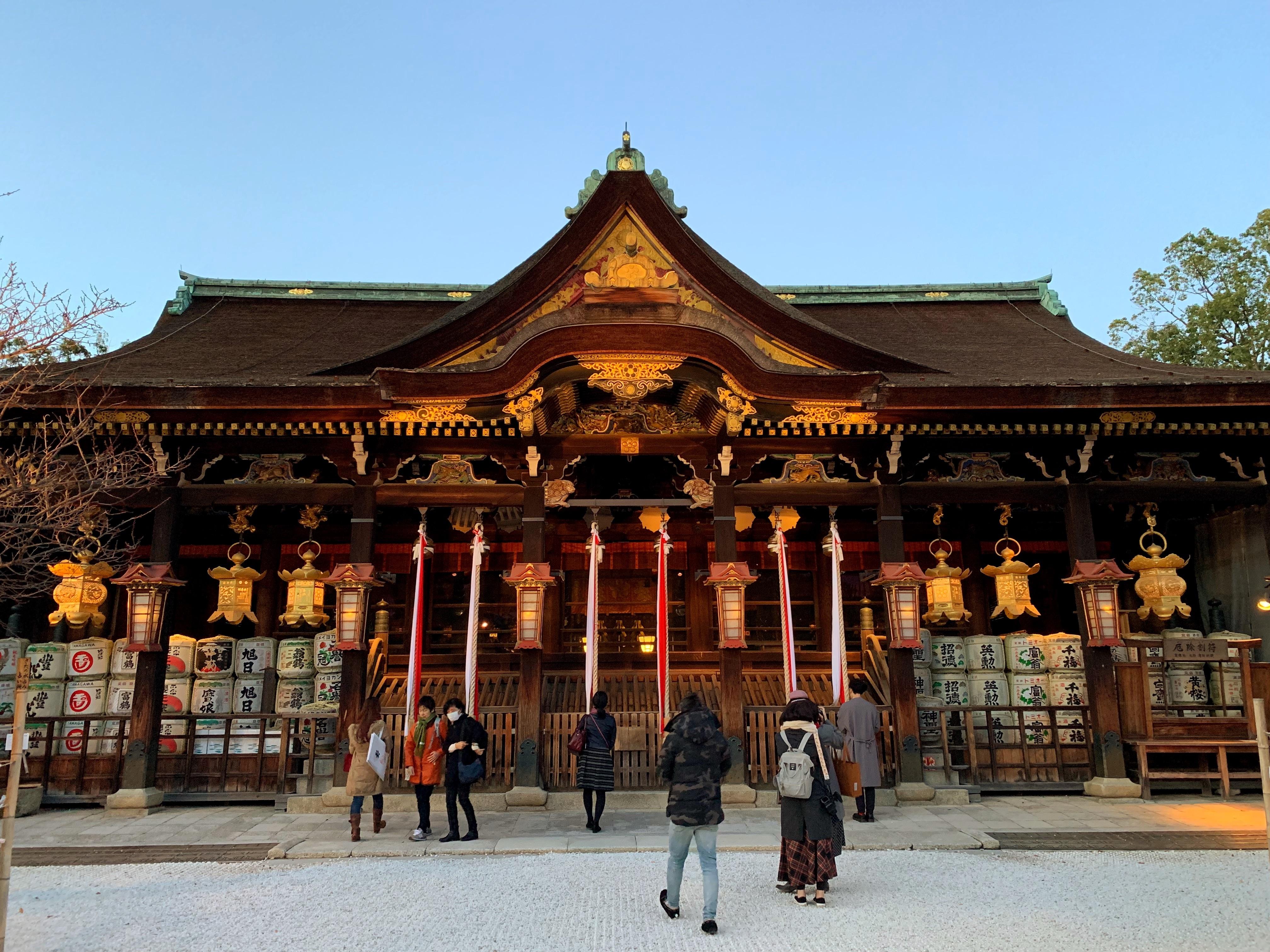 北野天満宮の拝殿
