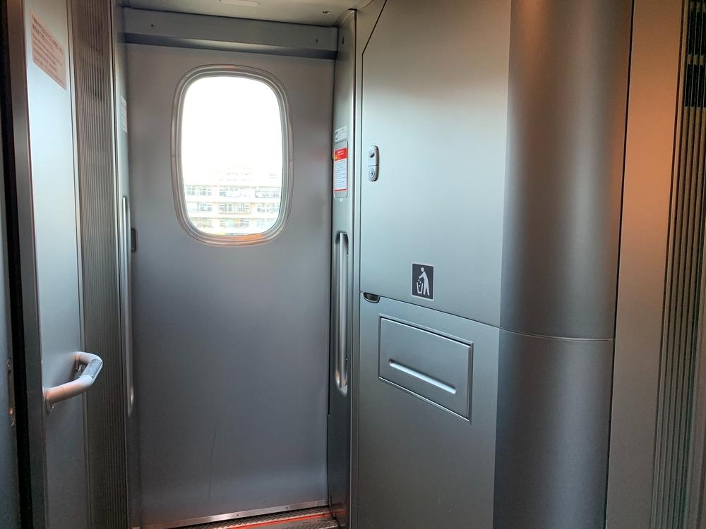 N700A系新幹線のごみ箱
