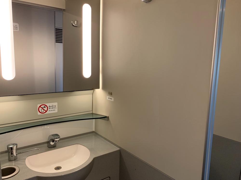 新幹線の洗面台