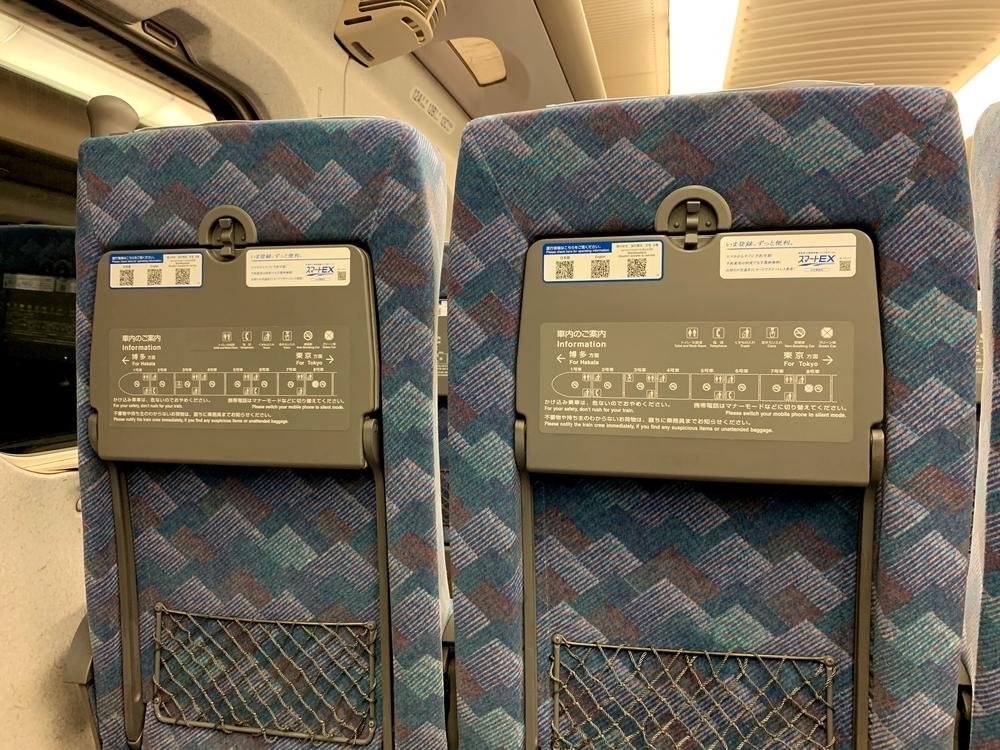 引退が迫る700系新幹線の普通車