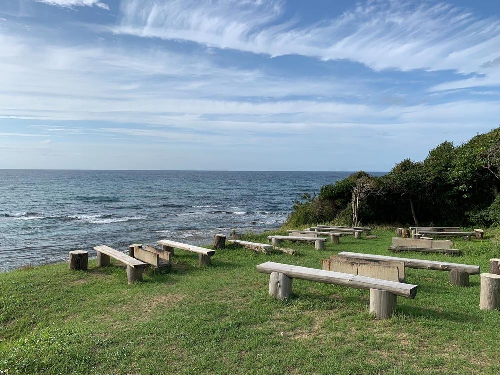 京丹後の観光地琴引浜のバーベキュースペース