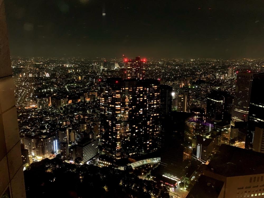 都庁の展望室からの夜景