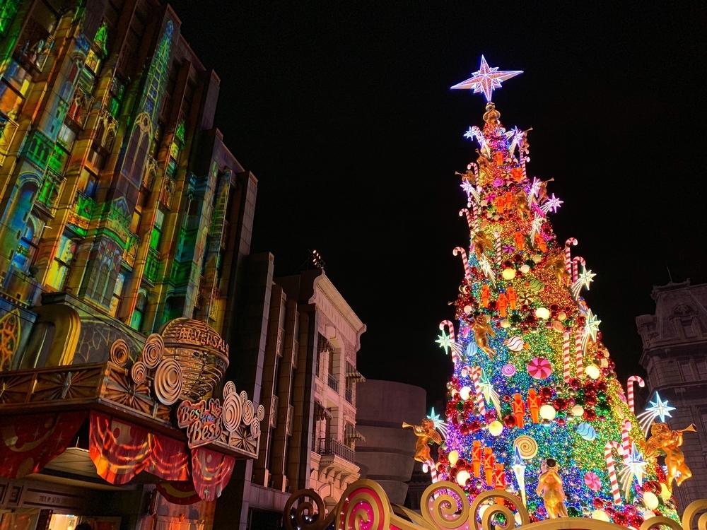 ユニバのギネス世界記録を持つクリスマスツリー