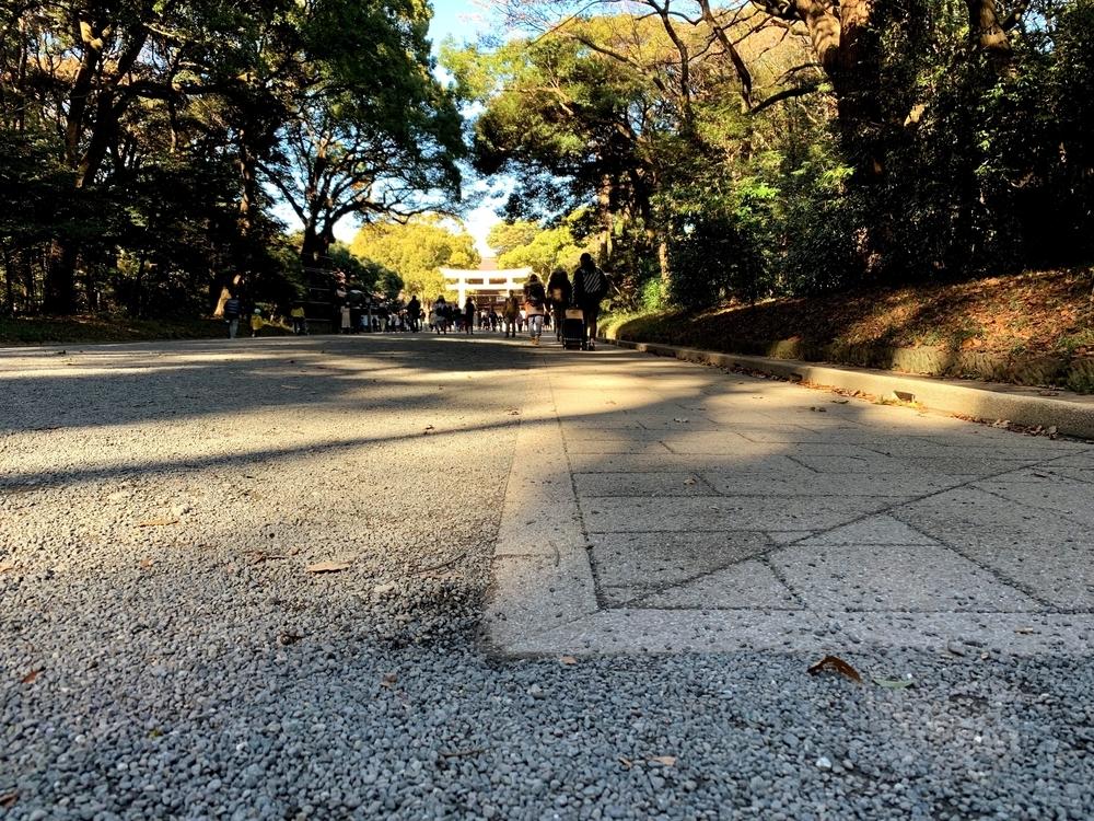 明治神宮の参道は直角ではない