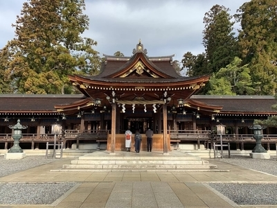 滋賀県一の大社多賀大社の拝殿