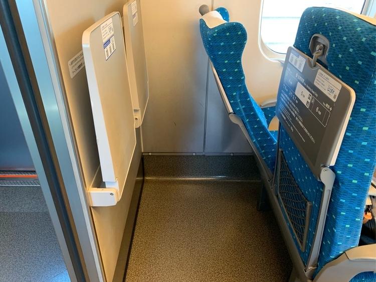 N700系新幹線の座席のリクライニング