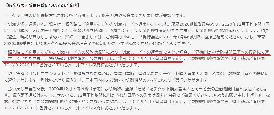 払い戻し 東京 オリンピック チケット 【東京オリンピック2021】座席数の減少で入場できなくなる場合の払い戻しについて